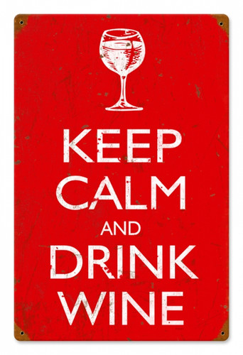 Vintage Keep Calm Metal Sign 12 x 18 Inches