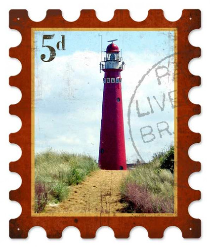Retro Light House Metal Sign 15 x 18 Inches