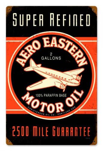 Vintage Aero Eastern Metal Sign 12 x 18 Inches