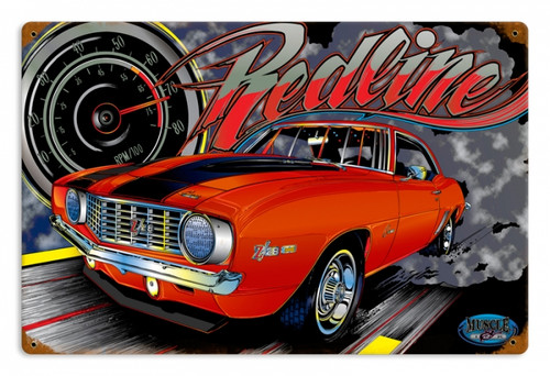 Vintage Muscle Z28 Redline Metal Sign 18 x 12 Inches