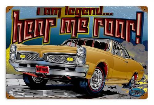 Vintage I am Legend Metal Sign 18 x 12 Inches