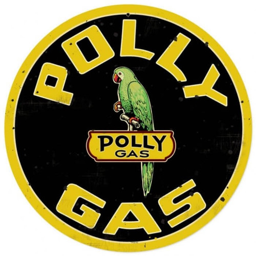 Retro Polly Gas Metal Sign 14 x 14 Inches