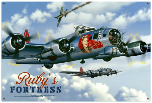 Retro Rubys Fortress Metal Sign 36 x 24 Inches