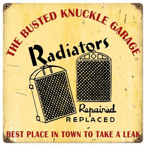 Vintage  Radiator Repair Metal Sign 12 x 12 Inches