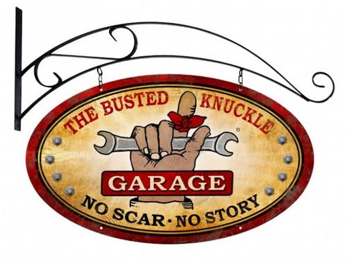 Vintage  Busted Knuckle Garage Metal Sign 4