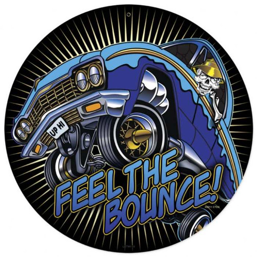 Retro Feel The Bounce Metal Sign 14 x 14 Inches