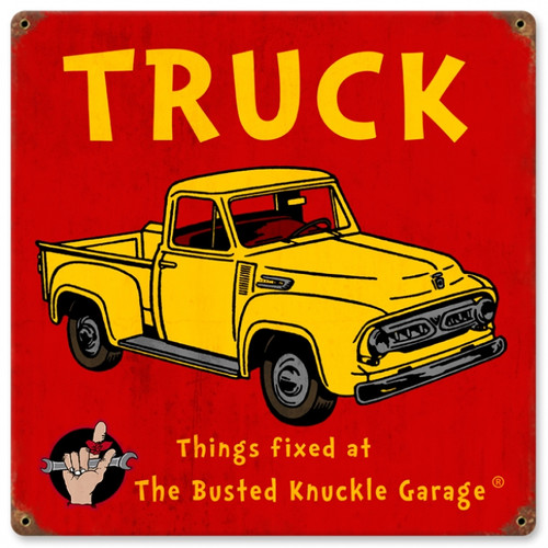 Vintage Kids Truck  Metal Sign 12 x 12 inches