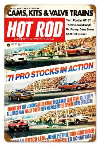 Vintage Pro Stocks (Jun. 1971) Metal Sign 12 x 18 Inches