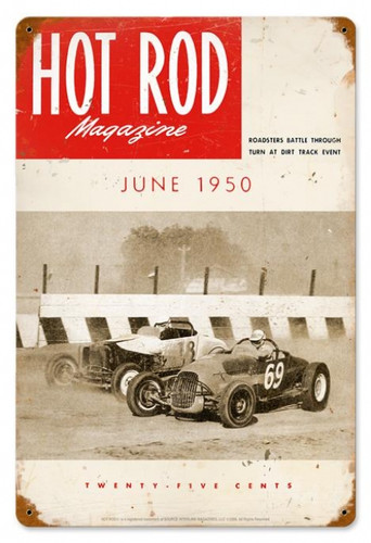 Vintage Track Roadsters (Jun. 1950) Metal Sign 12 x 18 Inches