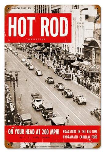 Vintage N.Y.C. Roadsters (Mar. 1951) Metal Sign 12 x 18 Inches