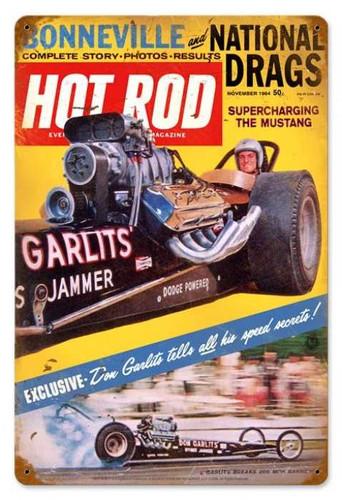 Vintage Garlits (Nov. 1964) Metal Sign 12 x 18 Inches