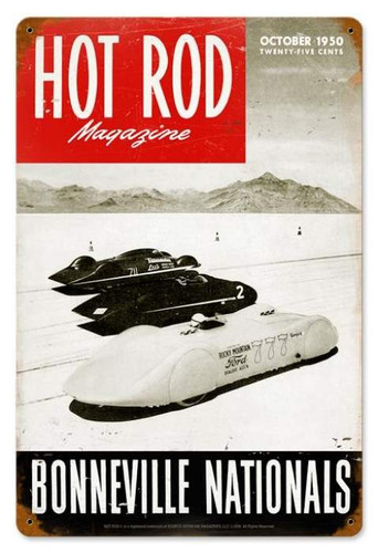 Vintage Bonneville Nationals (Oct. 1950) Metal Sign 12 x 18 Inches