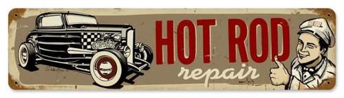 Retro Hot Rod Repair Metal Sign 20 x 5 Inches