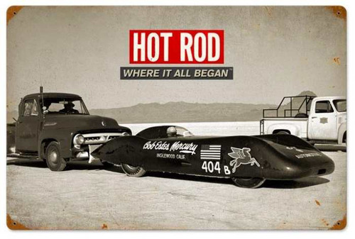Retro Bonneville: Where It All Began Metal Sign 24 x 16 Inches