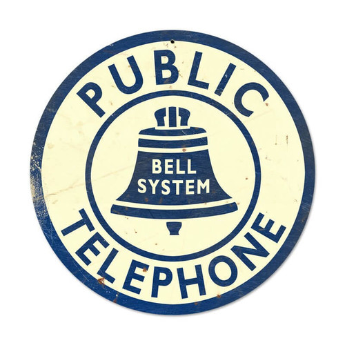 Vintage Bell Telephone Metal Sign 14 x 14 Inches Inches