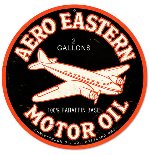 Vintage Aero Eastern Metal Sign 14 x 14 Inches Inches