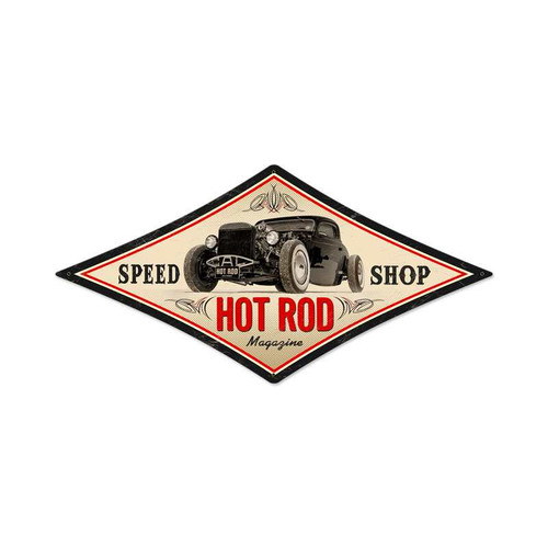Vintage Speed Shop Metal Sign 22 x 14 Inches Inches