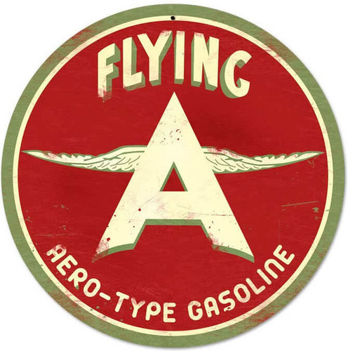 Retro Flying A Original Metal Sign 14 x 14 Inches