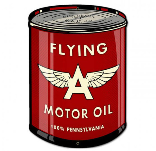 Retro Flying A Oil Can Metal Sign 14 x 20 Inches