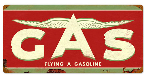 Retro Flying A Original Metal Sign 24 x 14 Inches