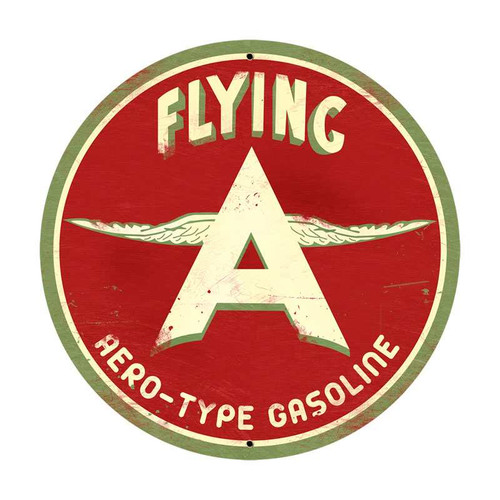 Retro Flying A Original Metal Sign 28 x 28 Inches