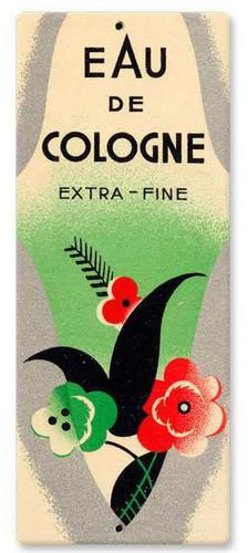 Vintage Eau De Cologne Metal Sign  5 x 12 Inches