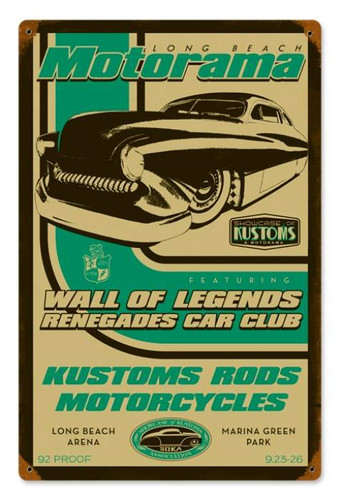 Vintage Wall of Legends Metal Sign 12 x 18 Inches
