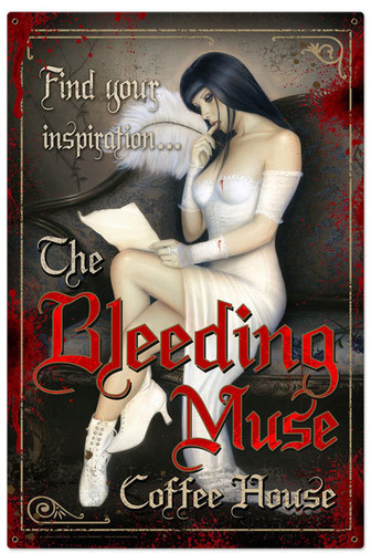 Retro Bleeding Muse Metal Sign 24 x 36 Inches