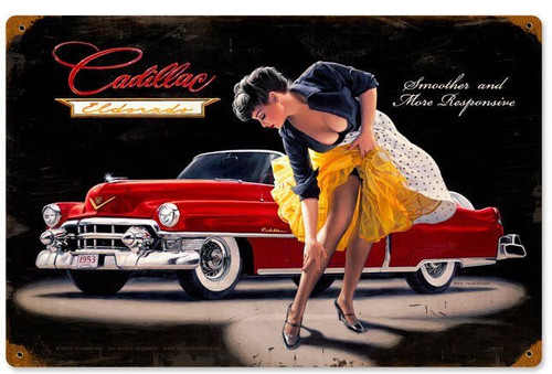Retro Smooth and Sensual Metal Sign 18 x 12 Inches