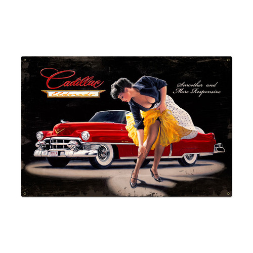 Retro Smooth and Sensual Metal Sign 36 x 24 Inches