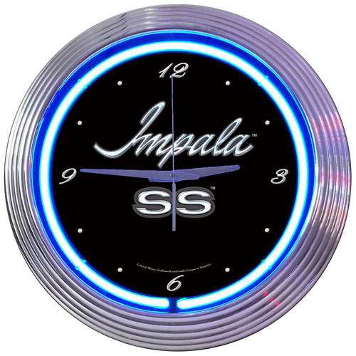 Retro Impala Neon Clock 15 X 15 Inches