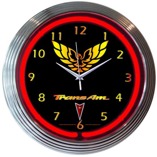 Retro Gm Trans Am Neon Clock 15 X 15 Inches