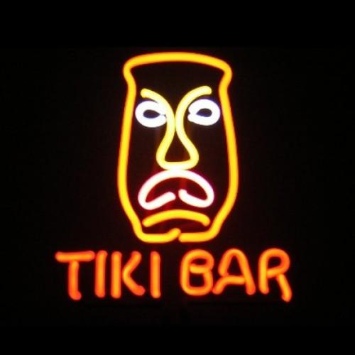 Tiki Bar Mask Neon Sculpture