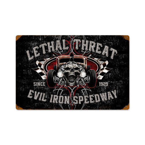 Retro Evil Iron Metal Sign 18 x 12 Inches