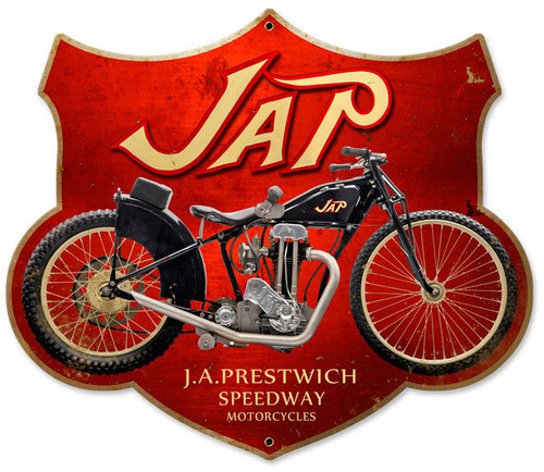 Retro Jap Motorcycle Metal Sign 17 x 15 Inches