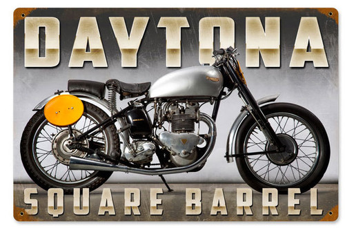 Retro Daytona Metal Sign 18 x 12 Inches