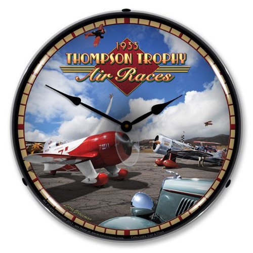 Air Races Lighted Wall Clock