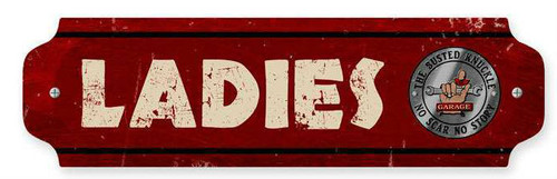 Retro Ladies Metal Sign  12 x 3 Inches