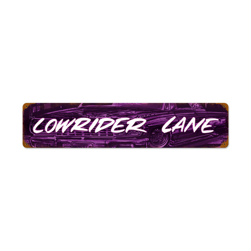 Retro Lowrider Ln Vintage Metal Sign 28 x 6 Inches