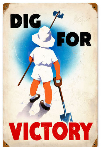 Retro Dig Victory Vintage Metal Sign 12 x 18 Inches