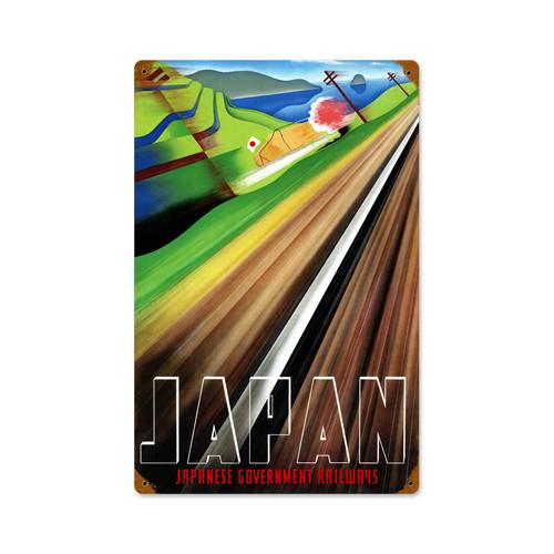 Retro Japan Railways  Metal Sign   12 x 18 Inches