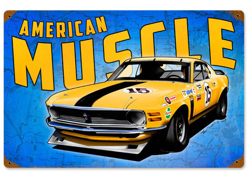 Retro Mustang Wild America  Metal Sign   18 x 12 Inches