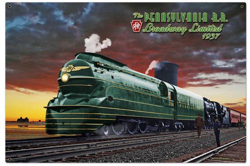Pennsylvania Rail Road Metal Sign 36 x 24 Inches