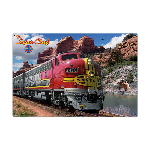 Sante Fe Metal Sign Metal Sign 36 x 24 Inches