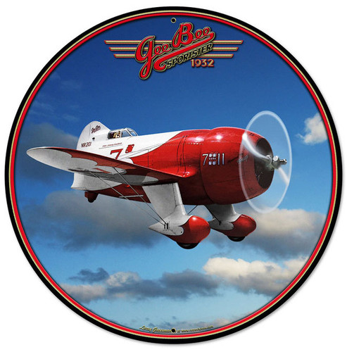 Gee Bee Racer Aviation Metal Sign 28 x 28 Inches