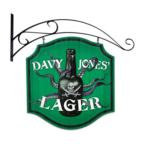 Retro Davy Jones Lager Double Sided  with Wall Mount Sign 20 x 20 Inches