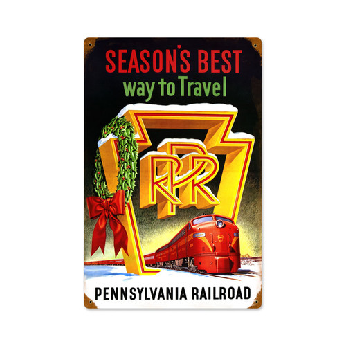Retro Seasons Best  Metal Sign   12 x 18 Inches