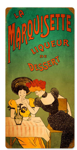 Retro Dessert Liqueur  Metal Sign 12 x 24 Inches