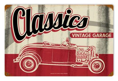 Retro Classic Garage Metal Sign 18 x 12 Inches
