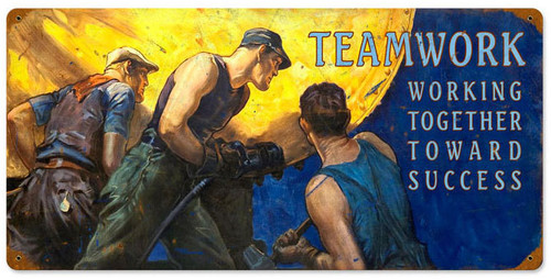 Working to Success Allied Military Metal Sign 24 x 12 Inches